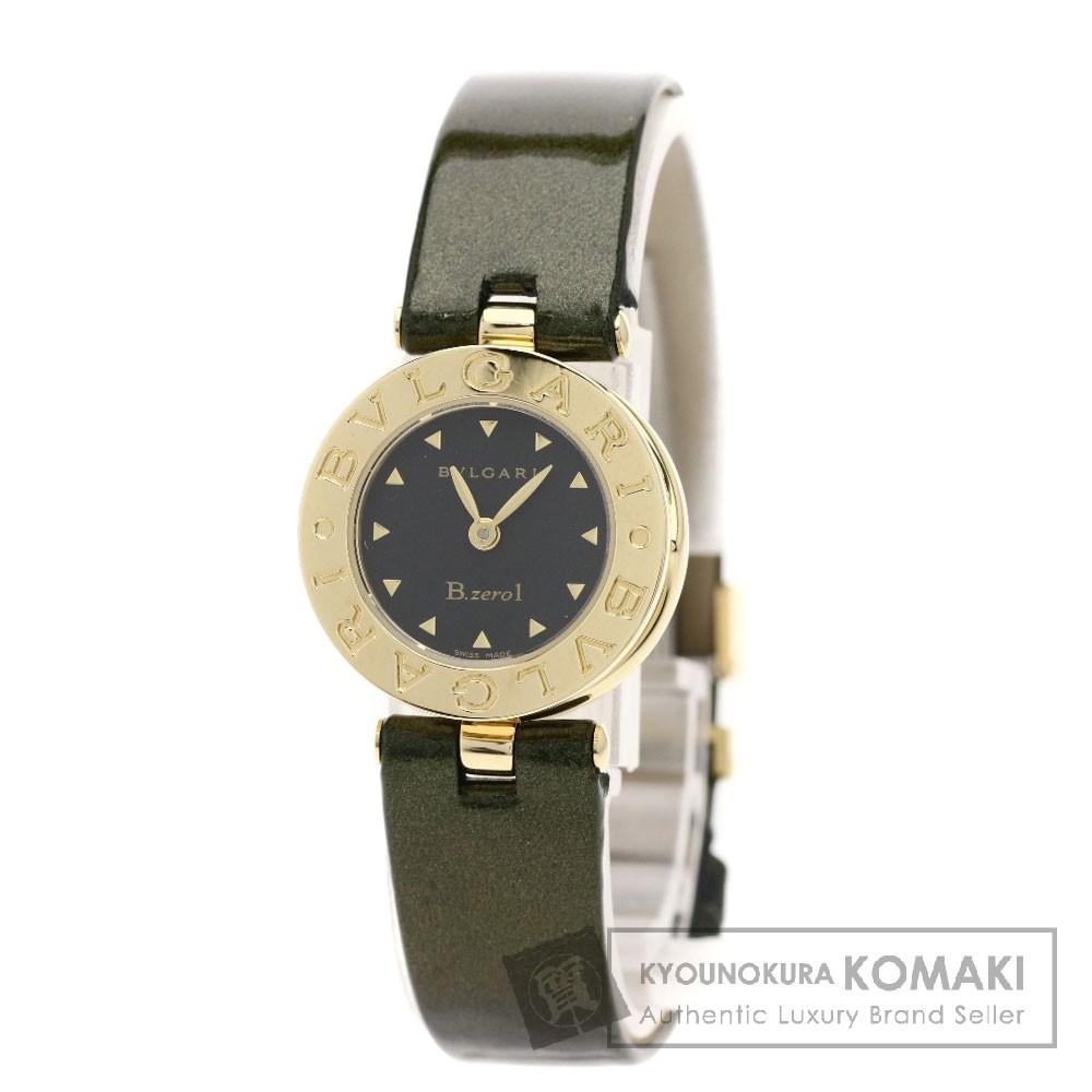 BVLGARI BZ22BGL B-zero1 腕時計 K18イエローゴールド/パテントレザー レディース 【中古】【ブルガリ】