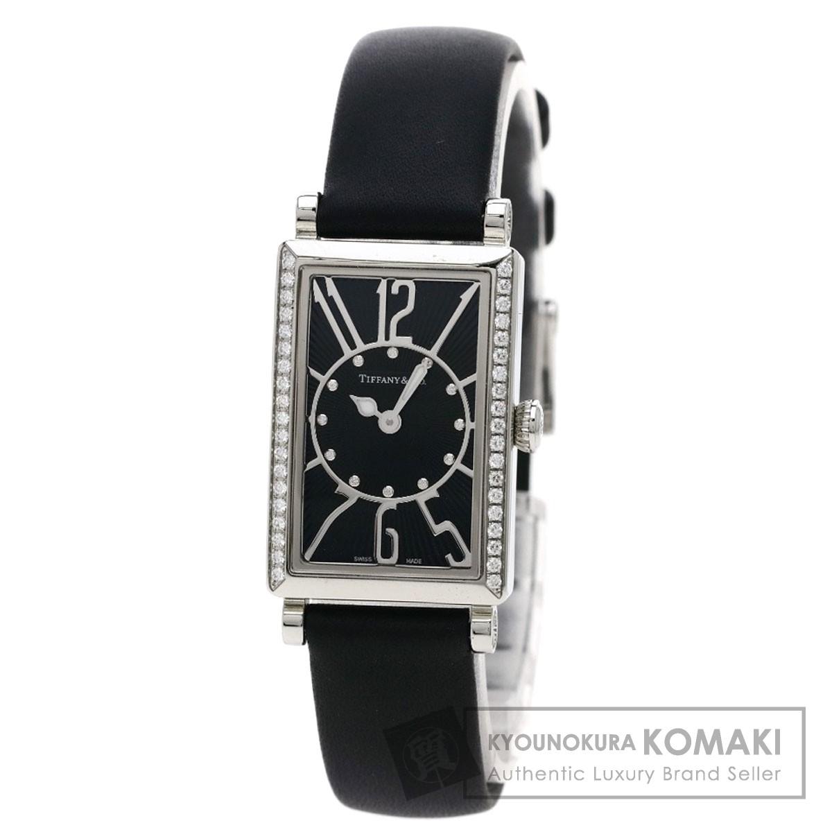 TIFFANY&Co. Z3000.10.10A10A68A ギャラリー ダイヤモンド 腕時計 ステンレス/革 レディース 【中古】【ティファニー】