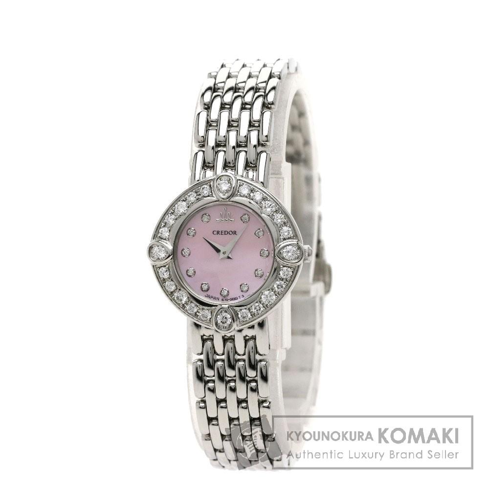 SEIKO クレドールシグノ ダイヤモンド 腕時計 ステンレス レディース 【中古】【セイコー】