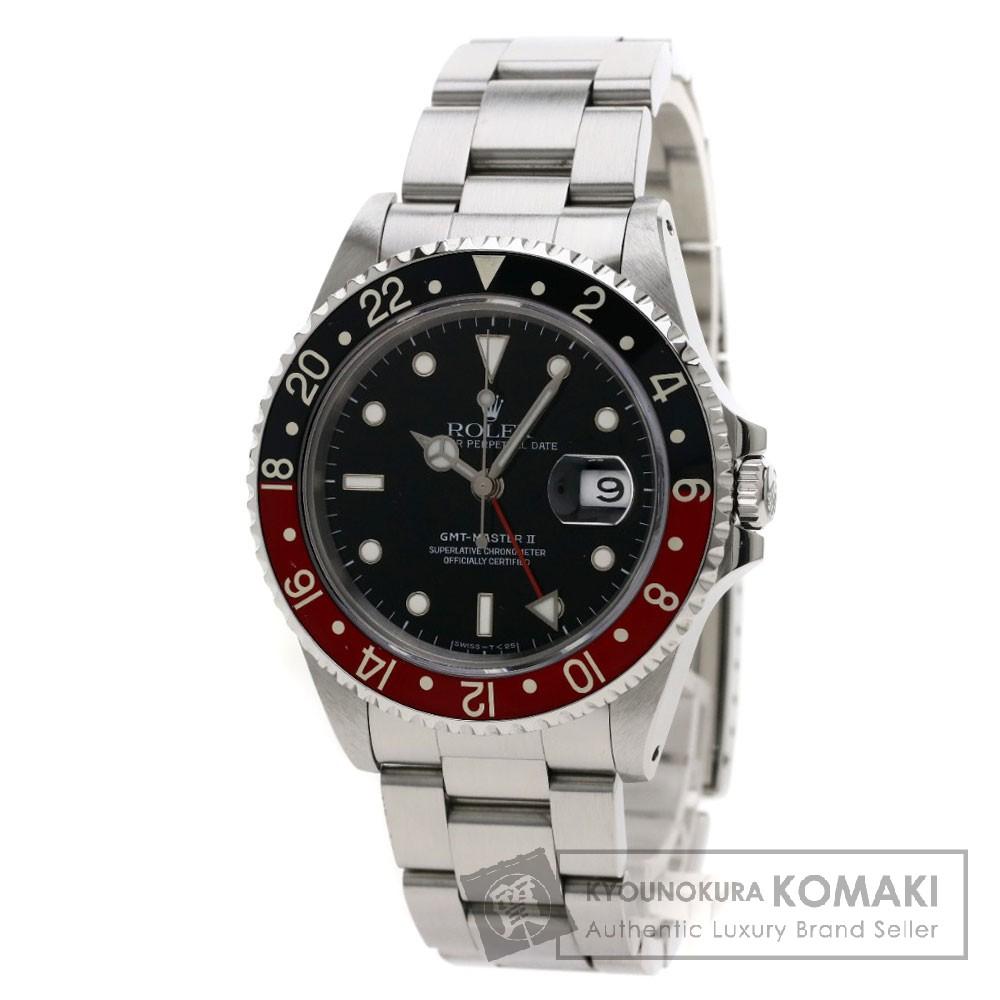 ROLEX GMTマスター2 16710 腕時計 OH済 ステンレス/SS メンズ 【中古】【ロレックス】