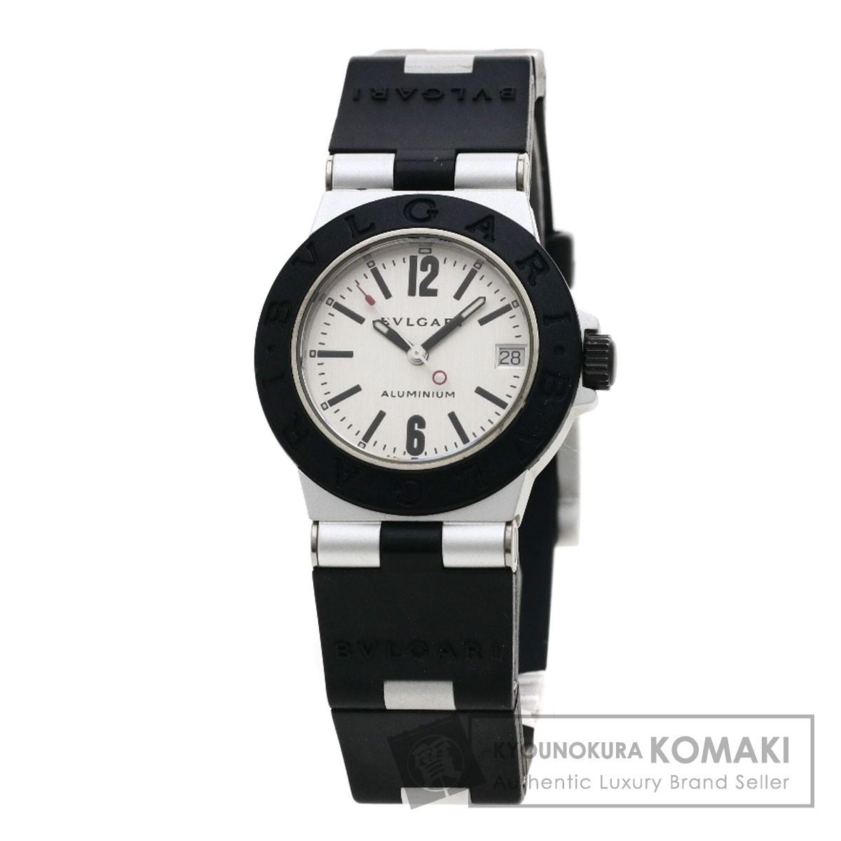 BVLGARI AL32TAVD ディアゴノ アルミニウム 腕時計 アルミニウム/ラバー レディース 【中古】【ブルガリ】