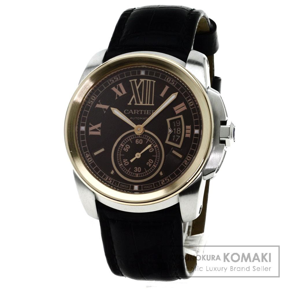 CARTIER W7100051 カリブル ドゥ カルティエ 腕時計 K18ピンクゴールド/革 メンズ 【中古】【カルティエ】