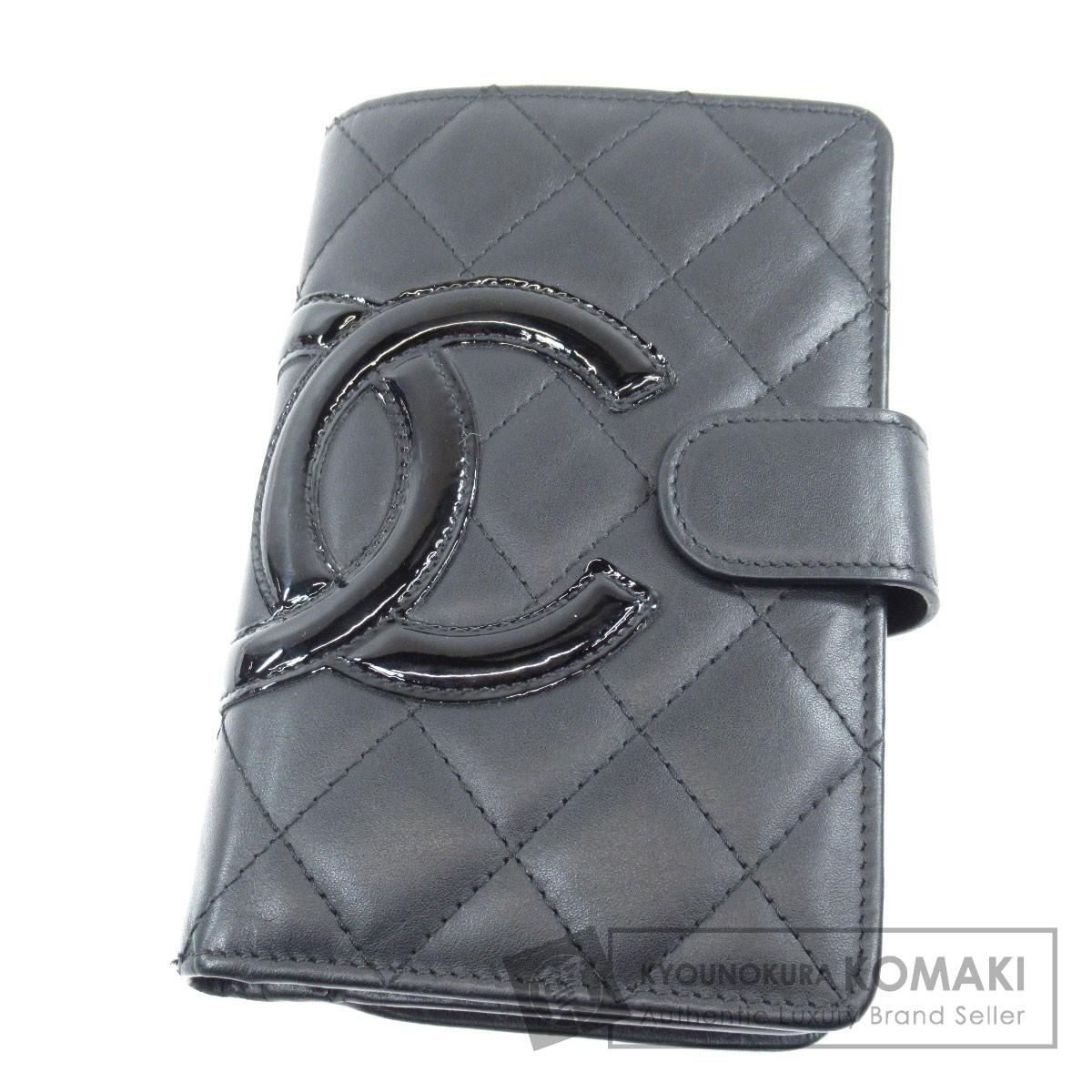 CHANEL カンボンライン 二つ折り財布(小銭入れあり) レザー レディース 【中古】【シャネル】
