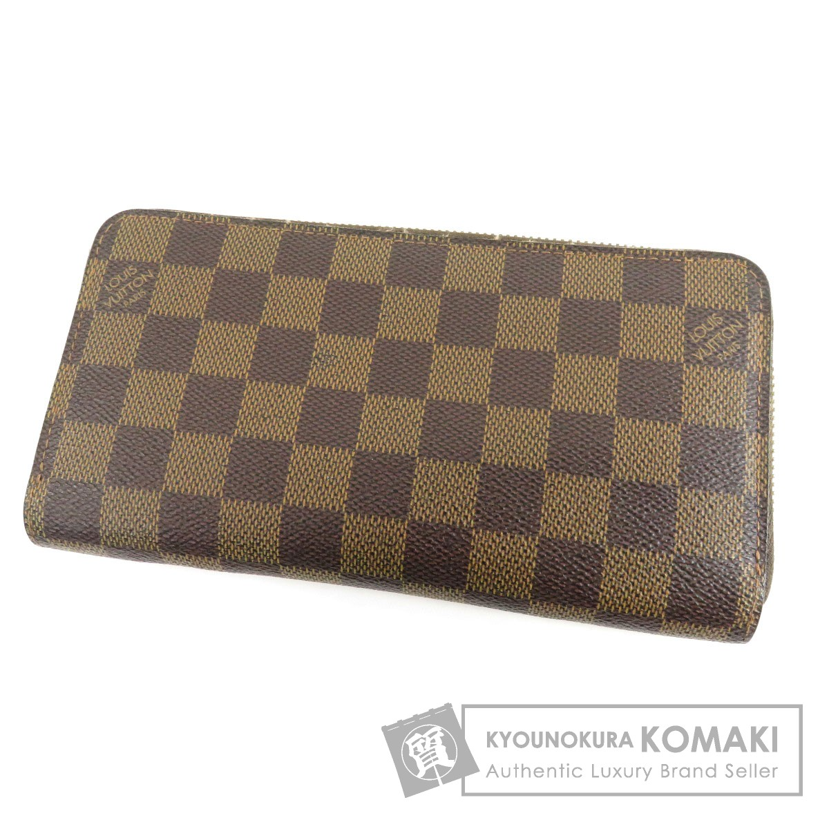 LOUIS VUITTON N60015 ジッピーウォレット 旧型 長財布(小銭入れあり) ダミエキャンバス レディース 【中古】【ルイ・ヴィトン】