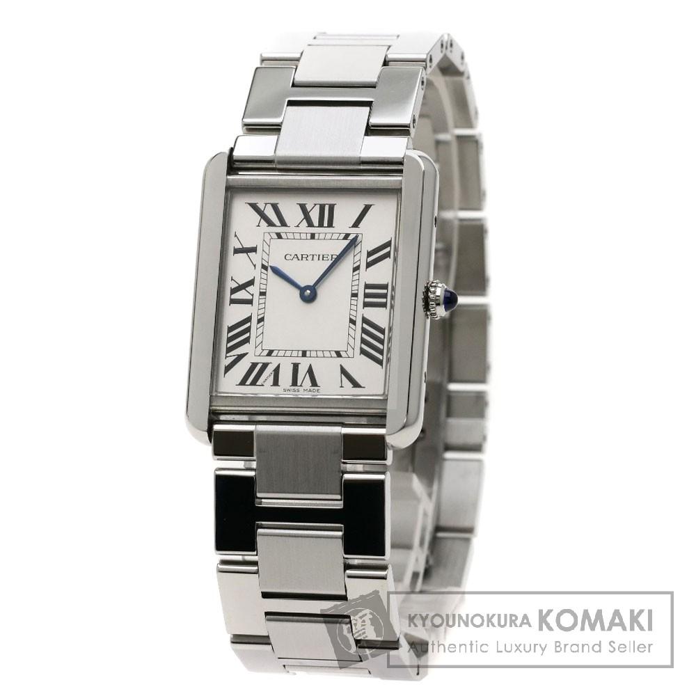 CARTIER W5200014 タンクソロ LM 腕時計 ステンレス メンズ 【中古】【カルティエ】