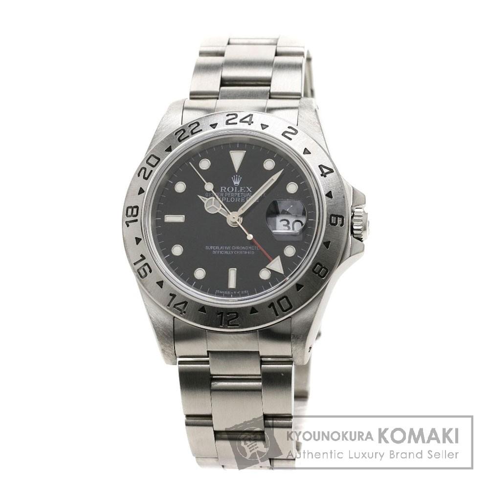 ROLEX 16570 エクスプローラー2 腕時計 OH済 ステンレス メンズ 【中古】【ロレックス】