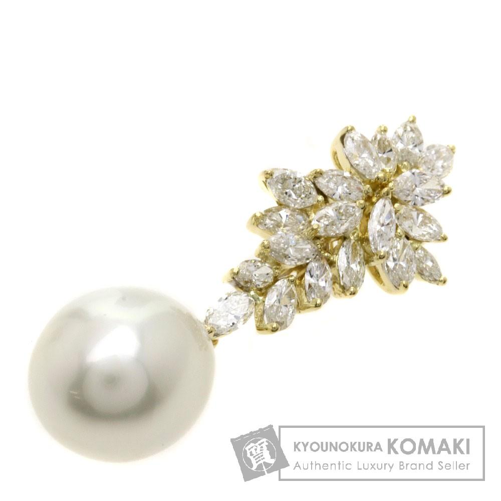 3.08ct 真珠/パール/ダイヤモンド ペンダント K18イエローゴールド 3.08g レディース 【中古】