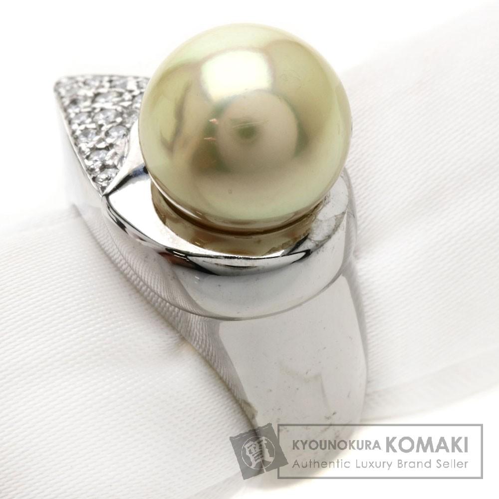 0.2ct パール/真珠 ダイヤモンド リング・指輪 K18ホワイトゴールド 10.6g レディース 【中古】