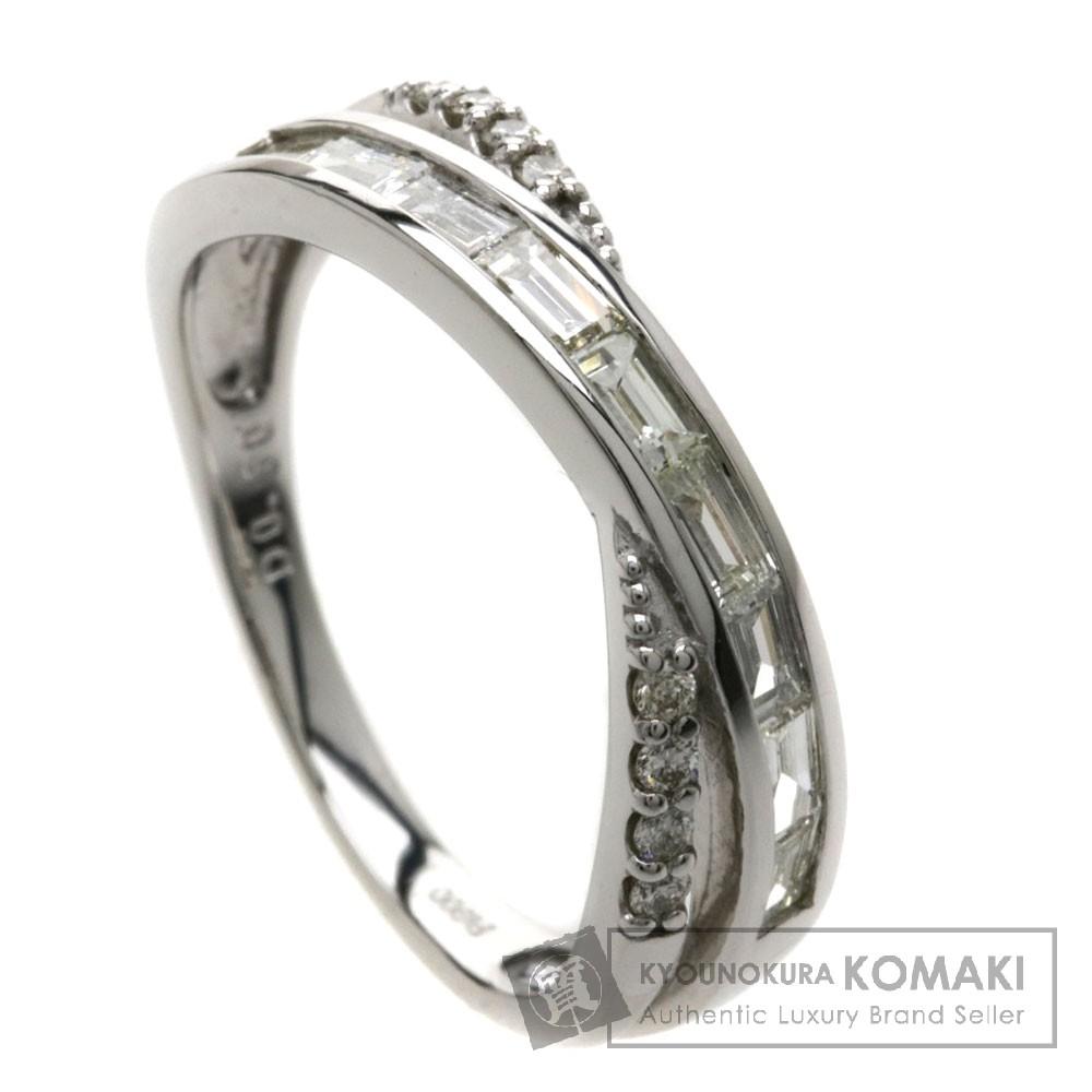 0.5ct ダイヤモンド リング・指輪 プラチナPT900 4.4g レディース 【中古】