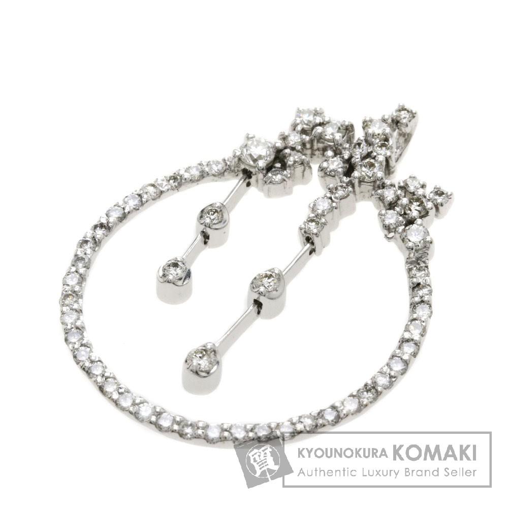 1.08ct ダイヤモンド ペンダント K18ホワイトゴールド 4.2g レディース 【中古】