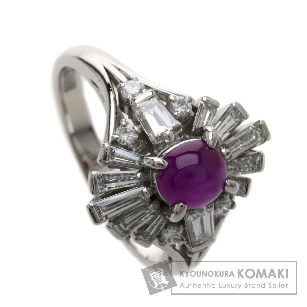 0.69ct スタールビー/ダイヤモンド リング・指輪 PMプラチナ900 5.9g レディース 【中古】