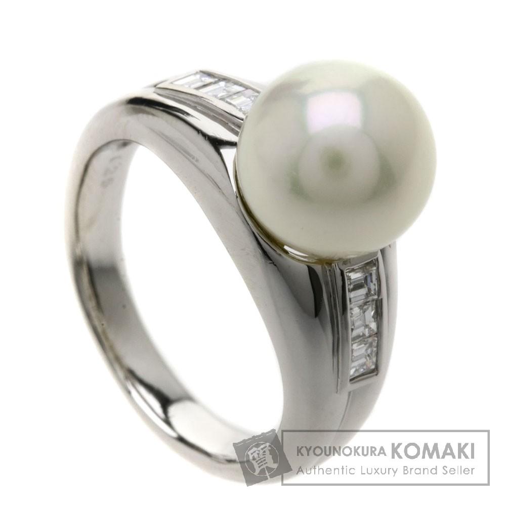 0.25ct 真珠/パール/ダイヤモンド リング・指輪 プラチナPT900 8.7g レディース 【中古】