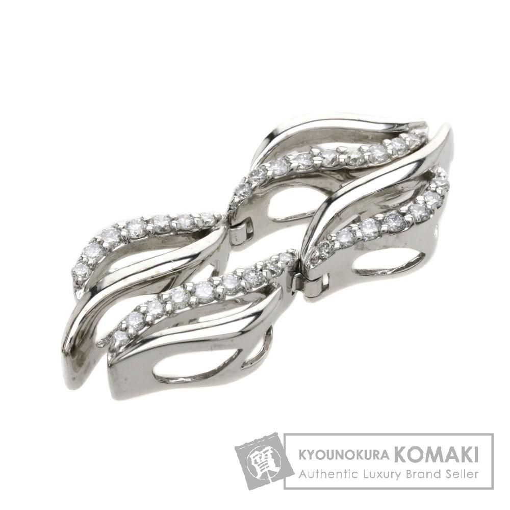 0.4ct ダイヤモンド ペンダント K18ホワイトゴールド 4.4g レディース 【中古】