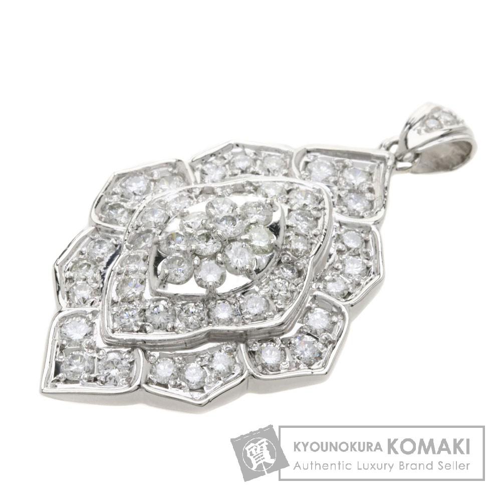 2ct ダイヤモンド/リーフ ペンダント プラチナPT900 13.1g レディース 【中古】