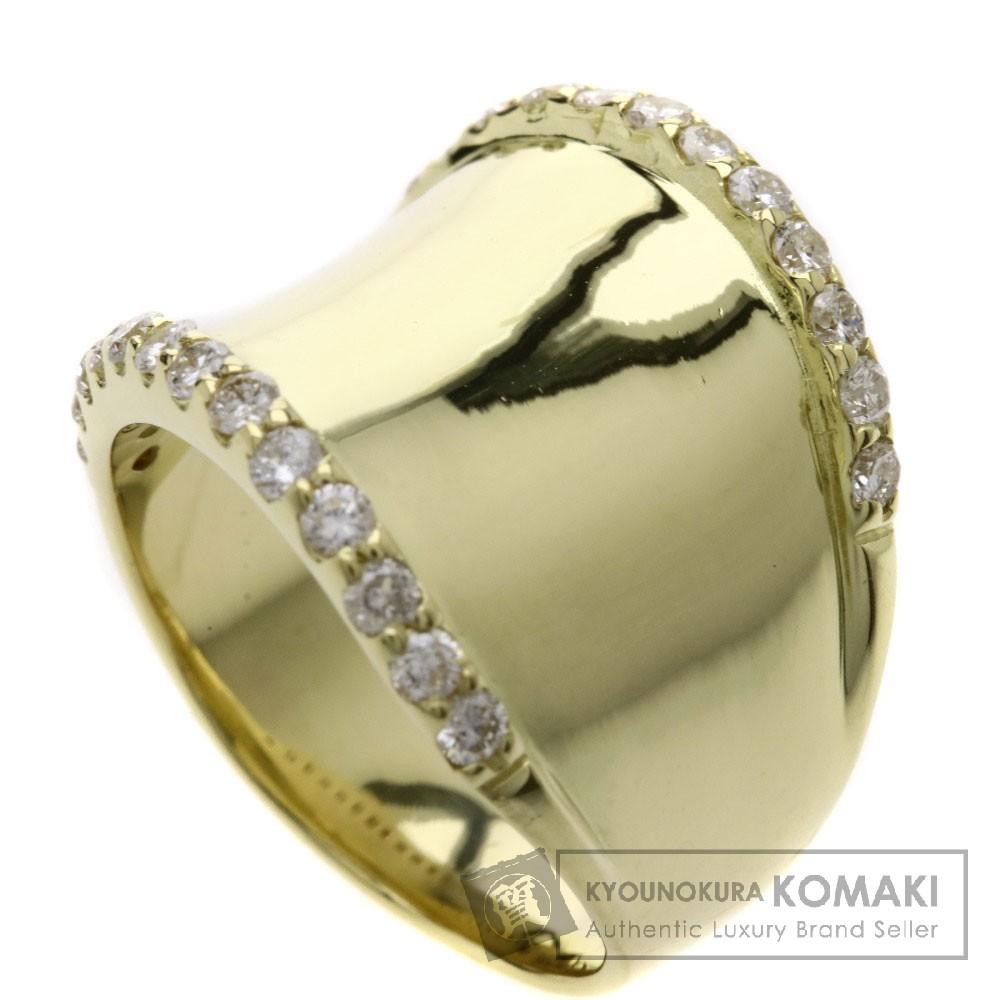 0.52ct ダイヤモンド リング・指輪 K18イエローゴールド 9.4g レディース 【中古】