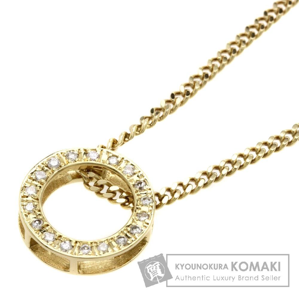 0.2ct ダイヤモンド ネックレス K18イエローゴールド 6.4g レディース 【中古】