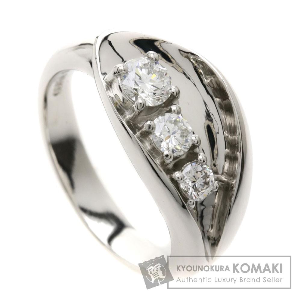 0.5ct ダイヤモンド リング・指輪 プラチナPT900 10.9g レディース 【中古】
