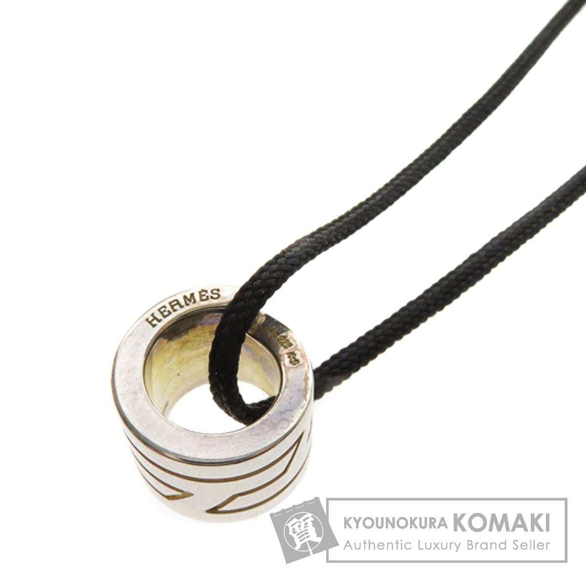 HERMES シンプルデザイン ネックレス シルバー レディース 【中古】【エルメス】