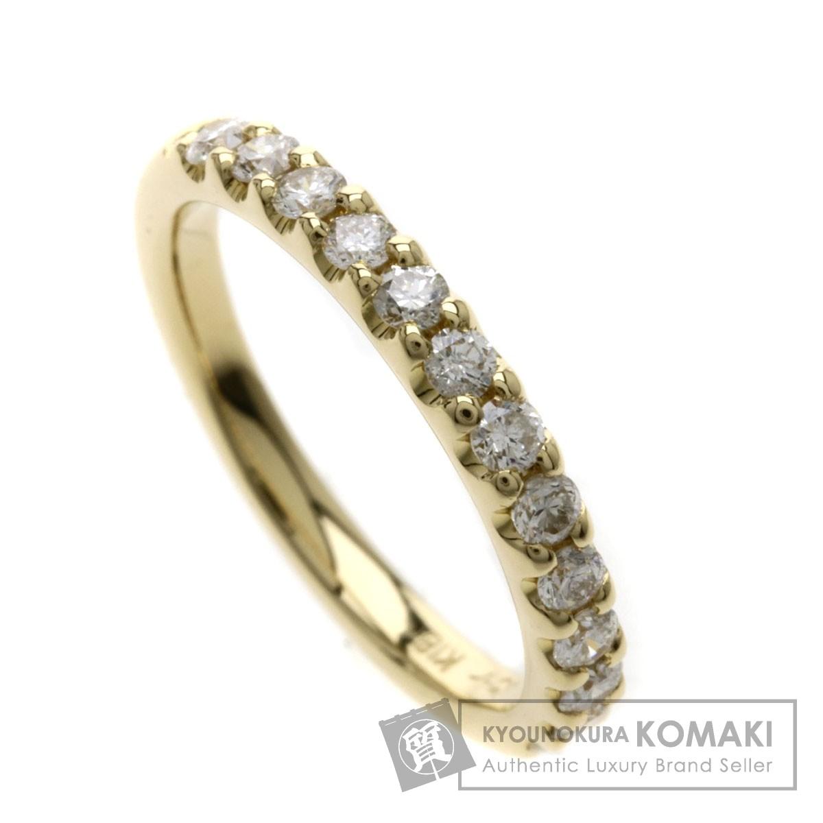 4℃ ダイヤモンド ハーフエタニティ/ピンキーリング リング・指輪 K18YG レディース 【中古】【ヨンドシー】