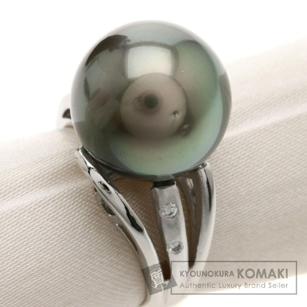 0.04ct パール/真珠/ダイヤモンド リング・指輪 Pt900 11.6g レディース 【中古】