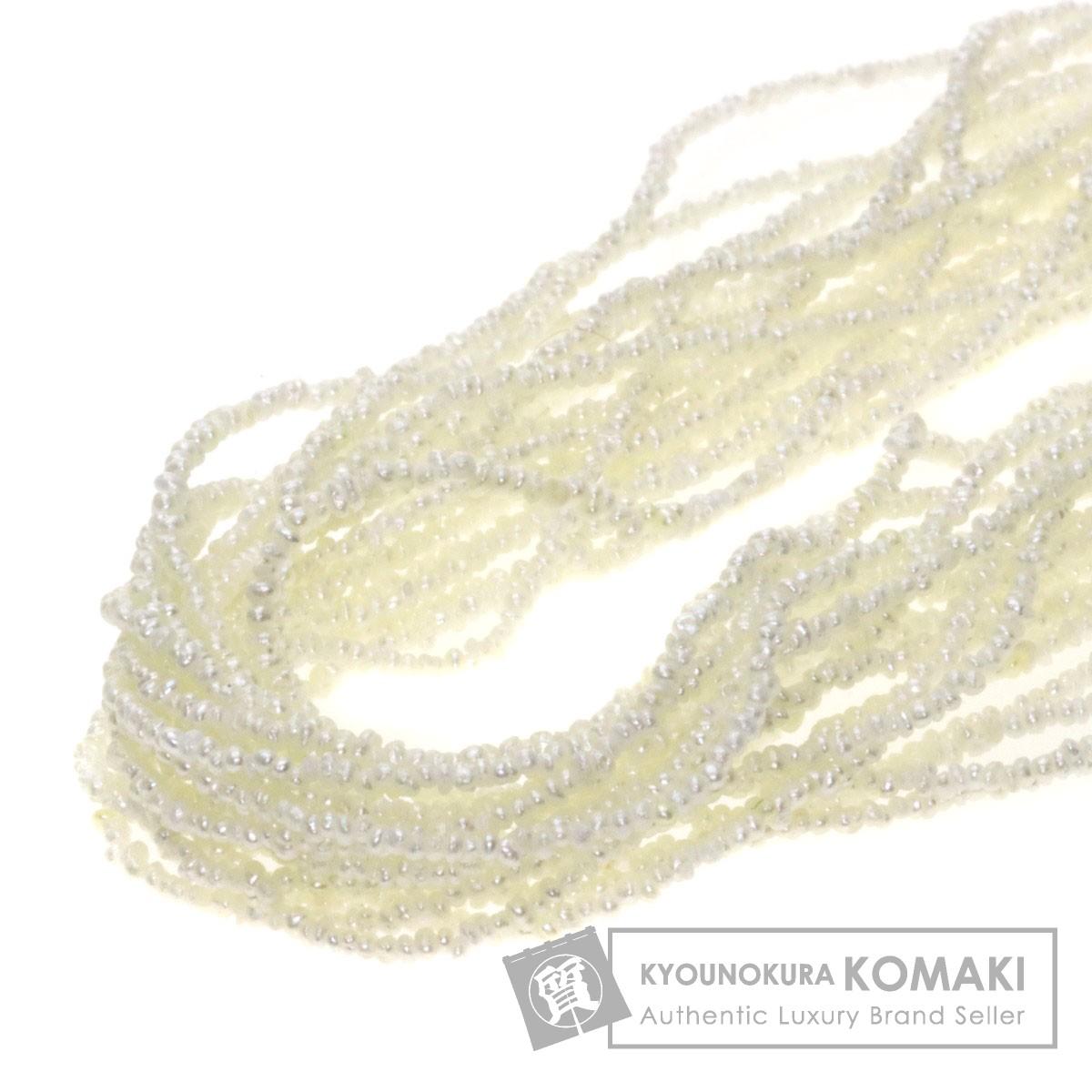 ケシパール/真珠 ネックレス シルバー 29.9g レディース 【中古】