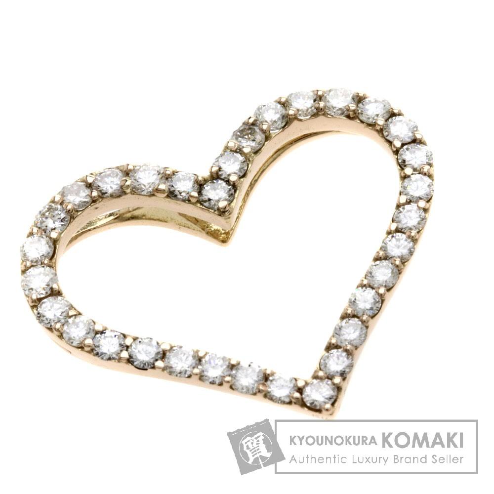 0.89ct ダイヤモンド/ハートモチーフ ペンダント K18PG 2.5g レディース 【中古】