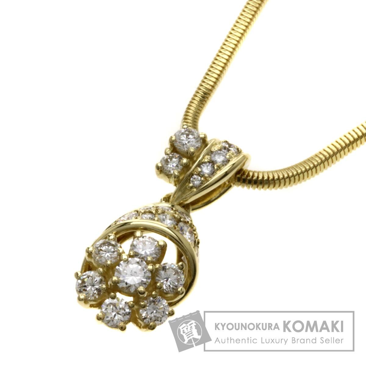 1.08ct ダイヤモンド/QUEEN/UNOAERRE ネックレス K18YG 13g レディース 【中古】