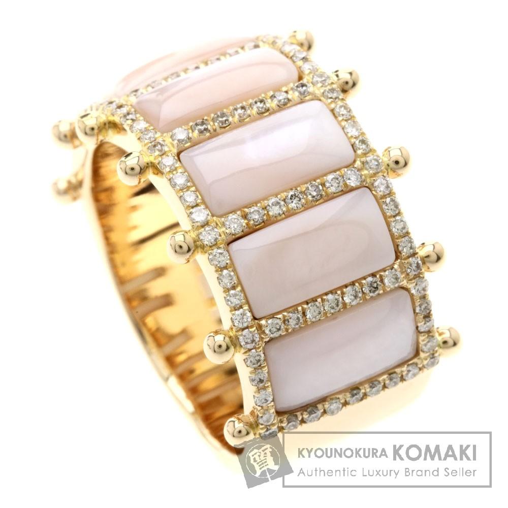 0.46ct シェル/ダイヤモンド リング・指輪 K18PG 11.8g レディース 【中古】