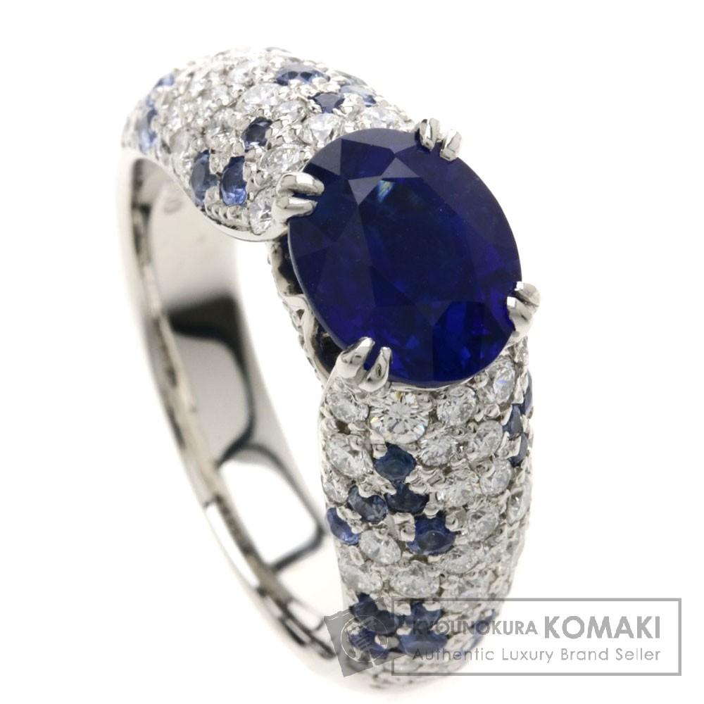 2.64ct ブルーサファイア/ダイヤモンド リング・指輪 Pt900 9.7g レディース 【中古】