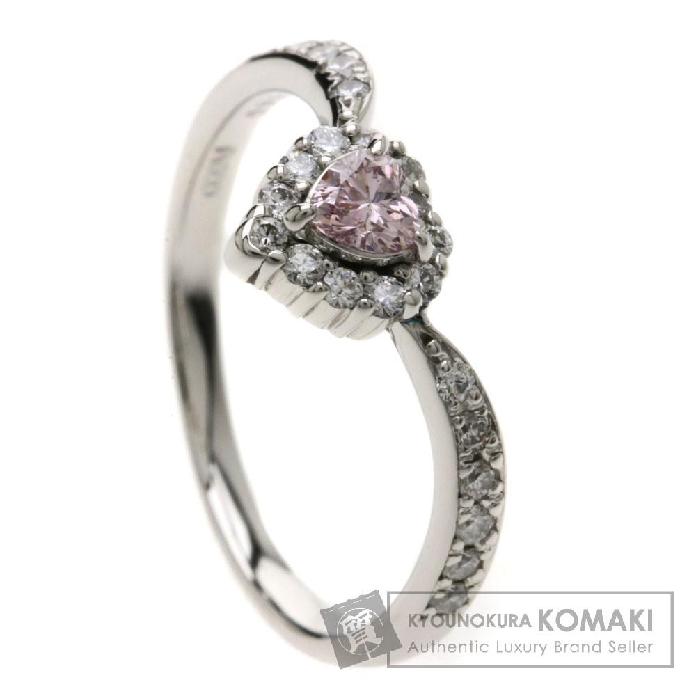 0.146ct ピンクダイヤモンド/ハート リング・指輪 Pt900 3.2g レディース 【中古】