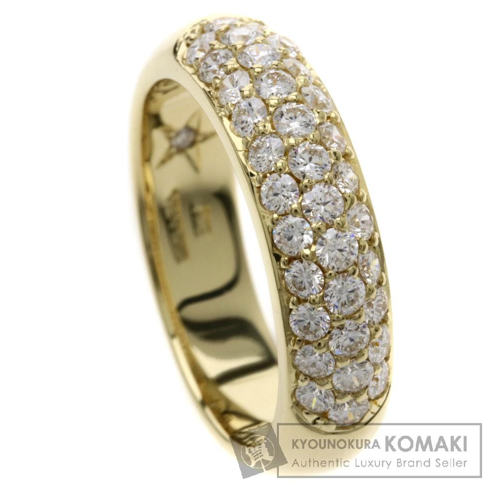 0.8ct ダイヤモンド VANADIS リング・指輪 K18YG 6.5g レディース 【中古】