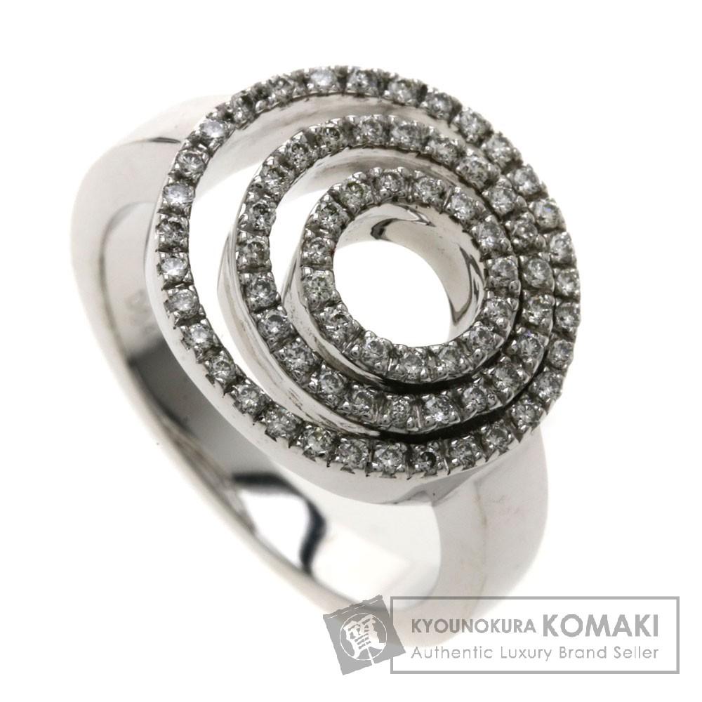 0.4ct ダイヤモンド リング・指輪 K18WG 9.8g レディース 【中古】