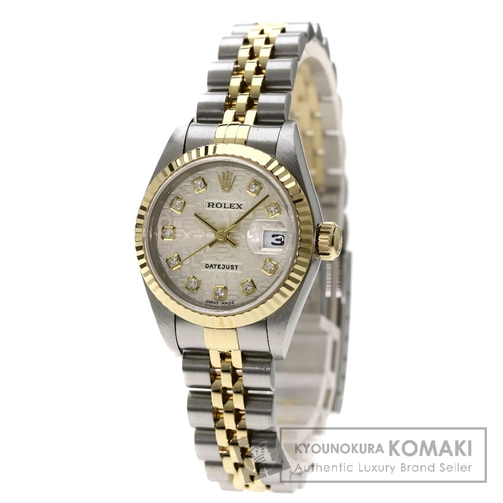 ROLEX 79173G デイトジャスト 10Pダイヤモンド 腕時計 SS/SSxK18YG レディース 【中古】【ロレックス】