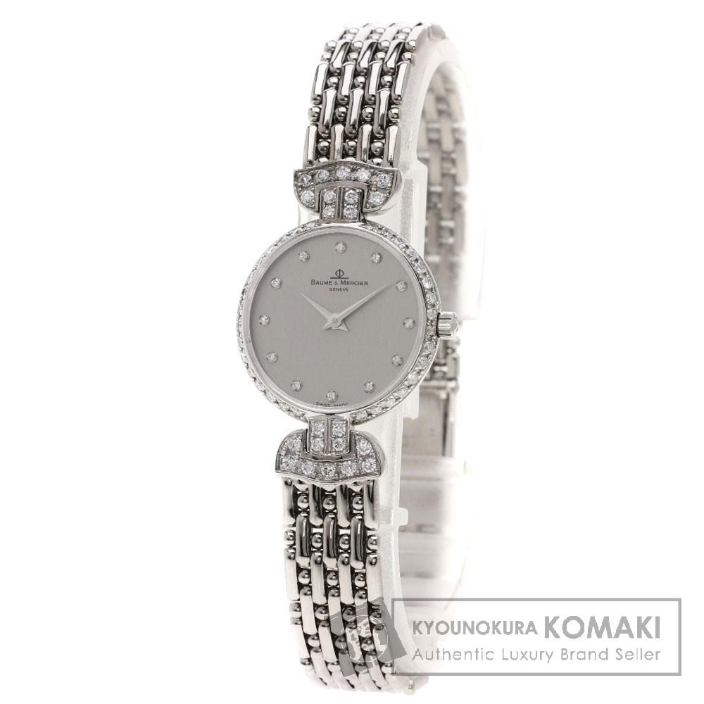 Baume & Mercier 12Pダイヤモンド 腕時計 OH済 K18WG レディース 【中古】【ボーム&メルシェ】