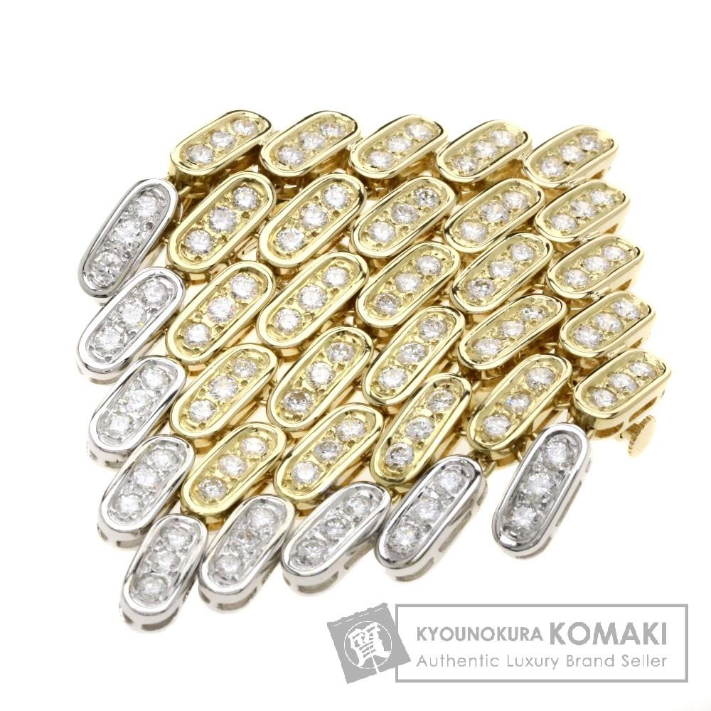 3.18ct ダイヤモンド ブローチ K18YG/K18WG 22g レディース 【中古】