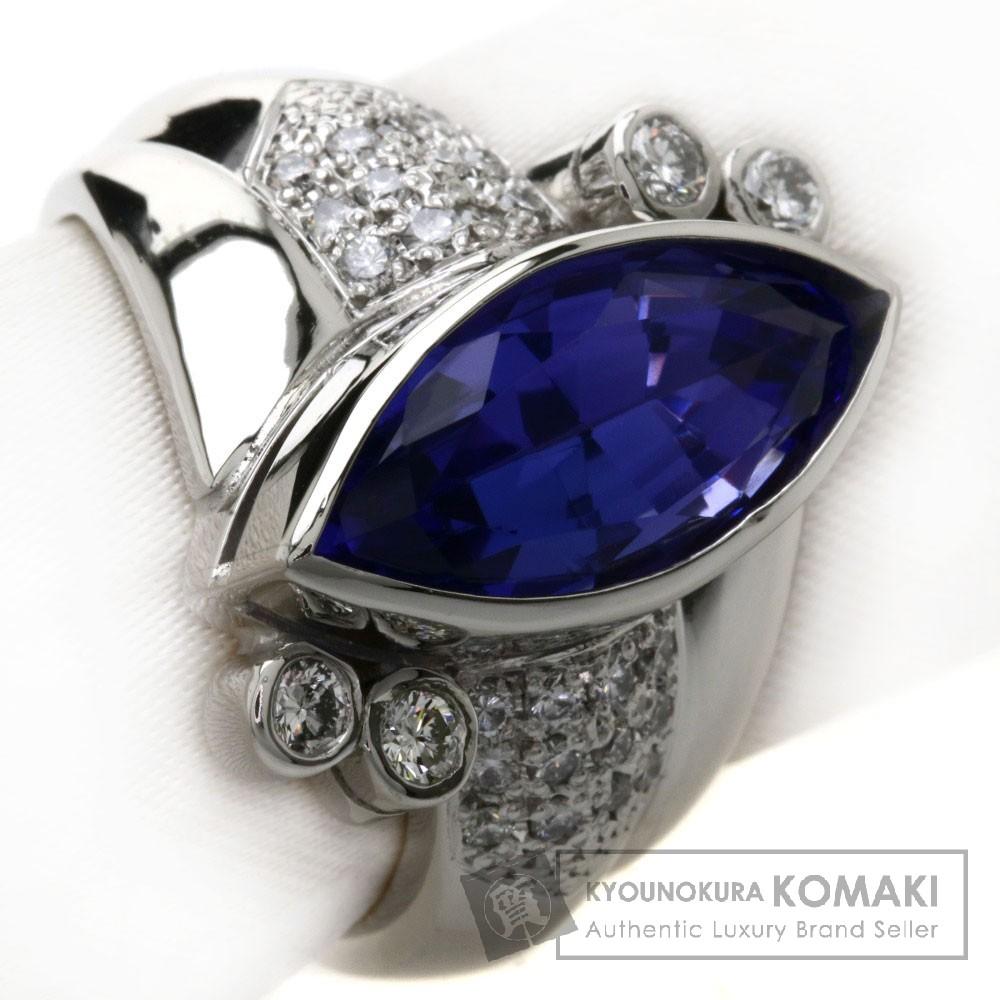 5.75ct タンザナイト/ダイヤモンド リング・指輪 Pt900 16.1g レディース 【中古】