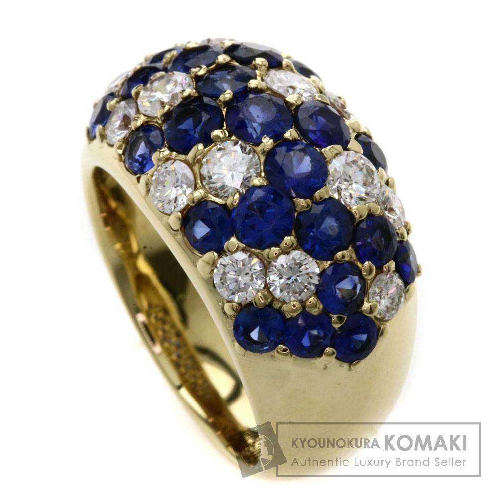 2.3ct サファイア/ダイヤモンド リング・指輪 K18YG 13.4g レディース 【中古】