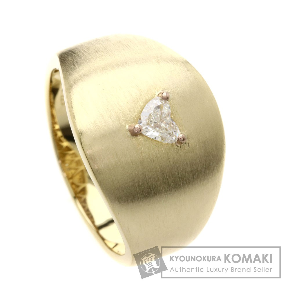 0.223ct ダイヤモンド/ハート リング・指輪 K18YG 9.8g レディース 【中古】