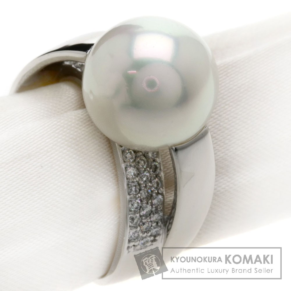 0.4ct パール/真珠/ダイヤモンド リング・指輪 Pt900 14.5g レディース 【中古】