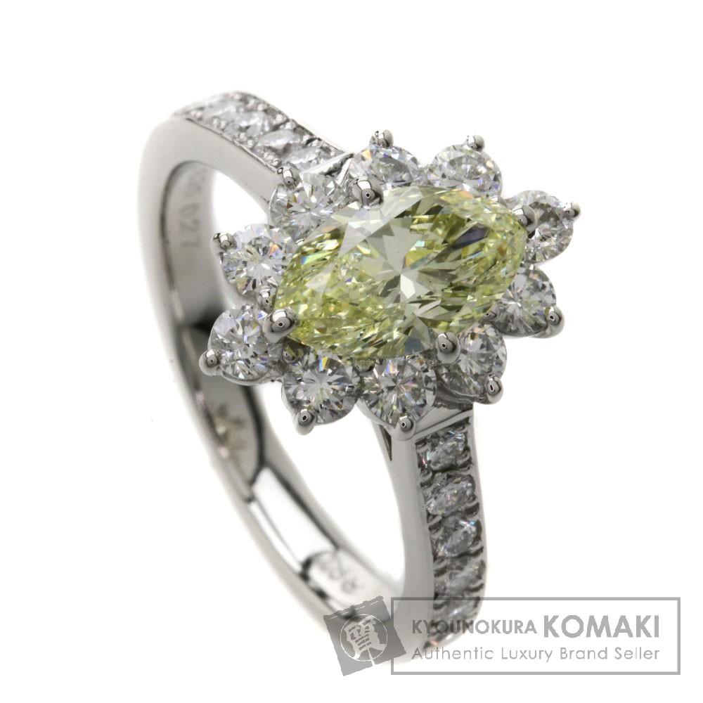 1.174ct イエローダイヤモンド/マーキーズ リング・指輪 Pt900 6.7g レディース 【中古】