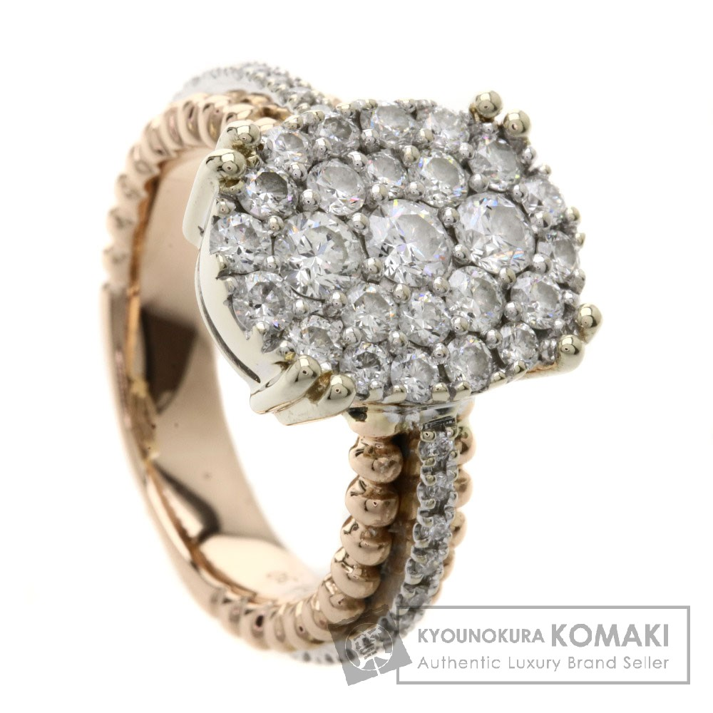 1.3ct ダイヤモンド リング・指輪 K18PG/K18WG 8.1g レディース 【中古】