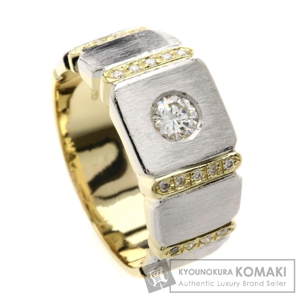 0.33ct ダイヤモンド リング・指輪 K18YG/Pt900 14.2g メンズ 【中古】