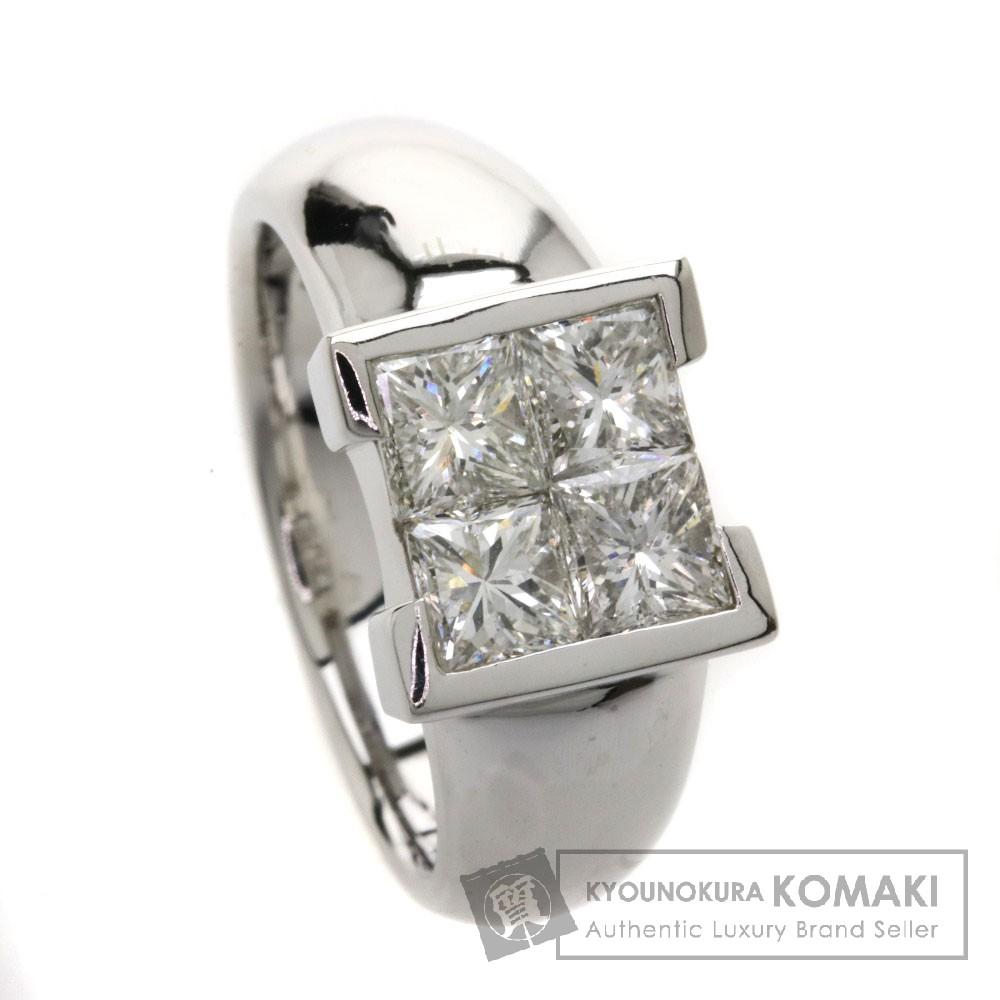 1.55ct ダイヤモンド リング・指輪 Pt900 11.8g レディース 【中古】