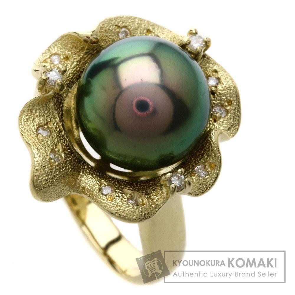 パール/真珠/ダイヤモンド リング・指輪 K18YG 8.7g レディース 【中古】