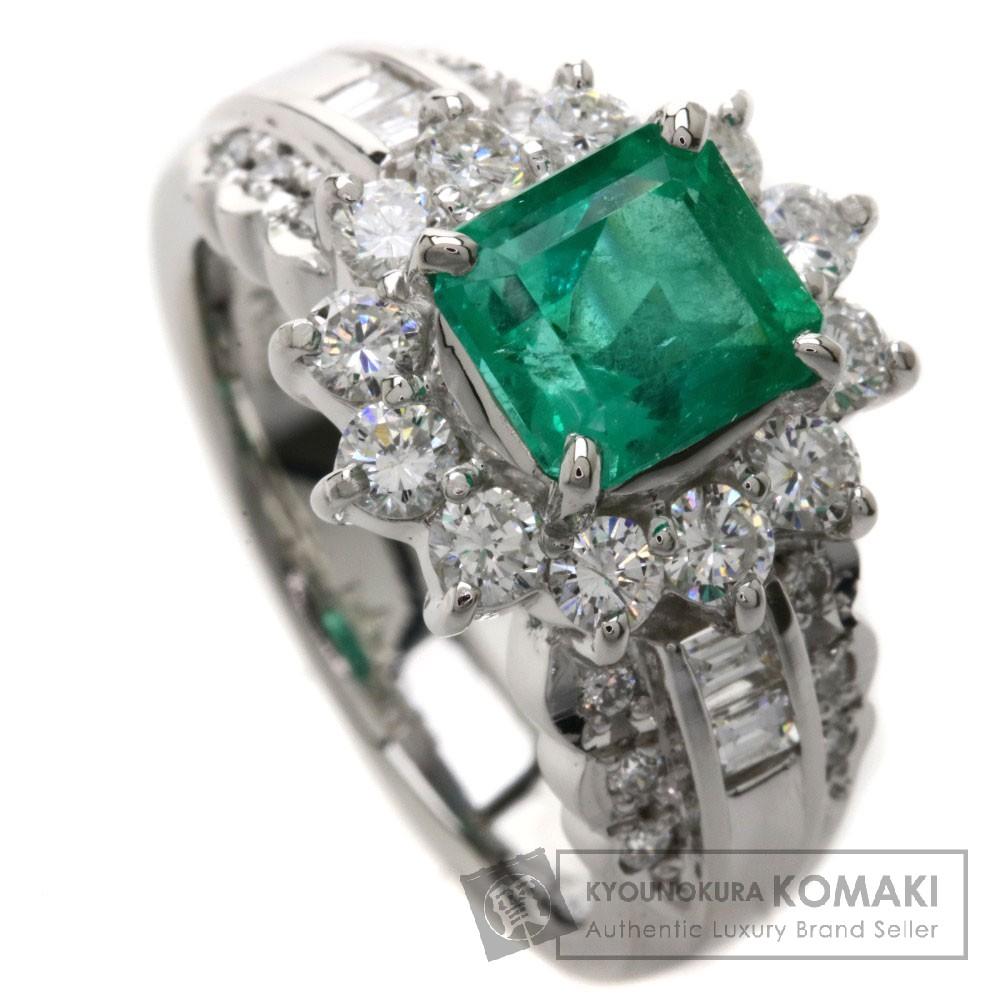 1.52ct エメラルド/ダイヤモンド リング・指輪 Pt900 10.5g レディース 【中古】