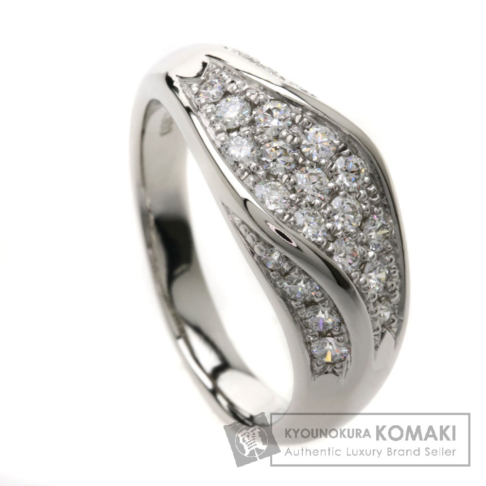 0.62ct ダイヤモンド リング・指輪 Pt900 8.8g レディース 【中古】