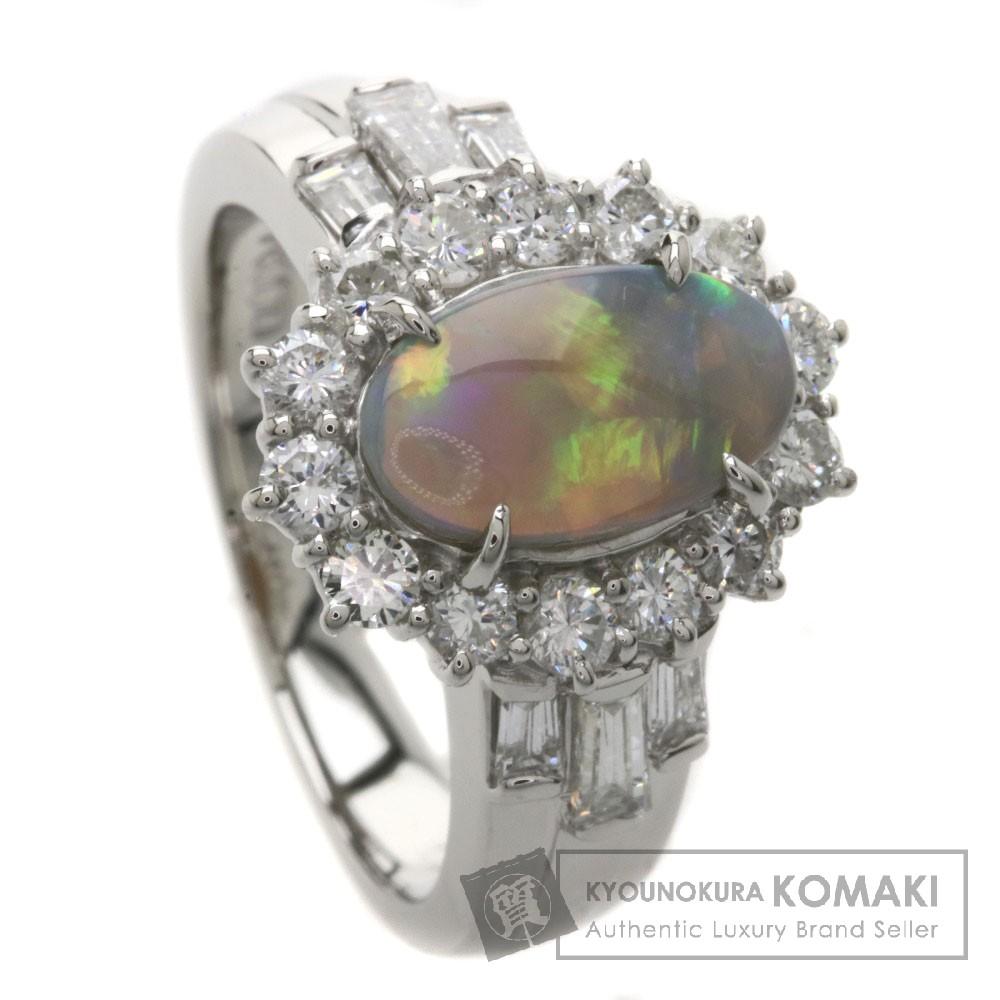 0.925ct オパール/ダイヤモンド リング・指輪 Pt900 9.4g レディース 【中古】