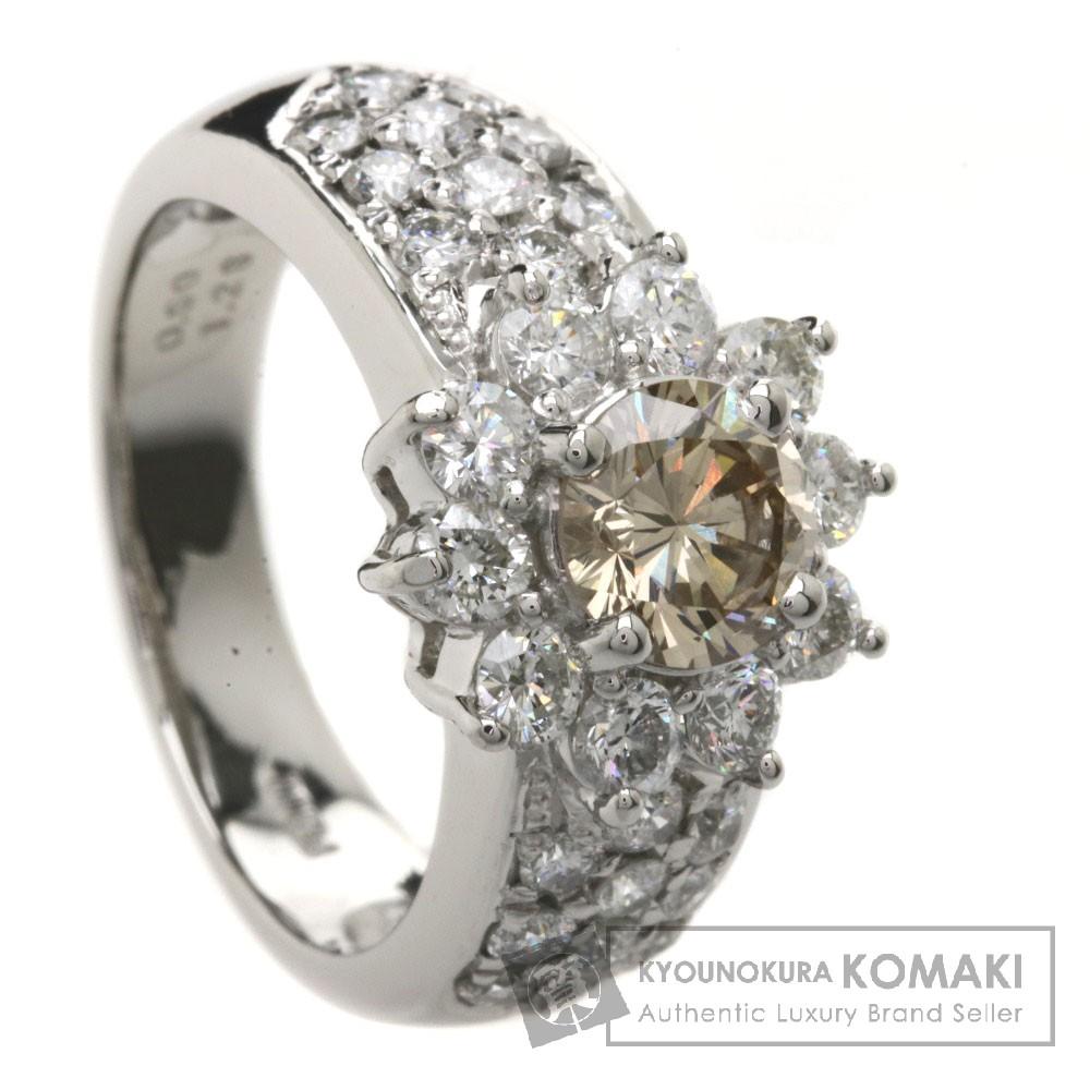 0.9ct ダイヤモンド リング・指輪 Pt900 9.8g レディース 【中古】