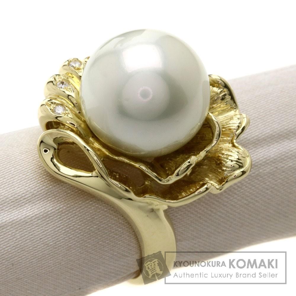 パール/真珠/ダイヤモンド リング・指輪 K18YG 16.5g レディース 【中古】