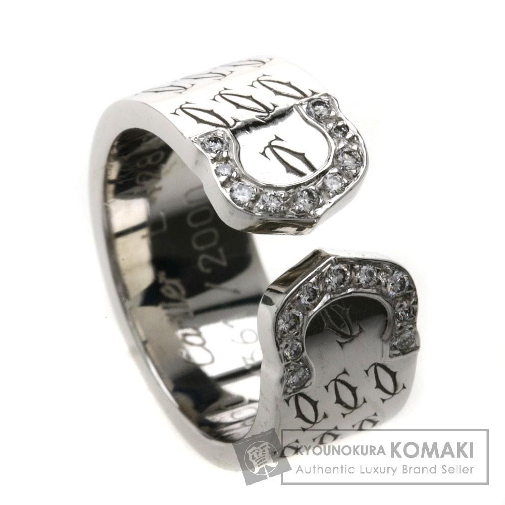 CARTIER C2リング 2000年クリスマス限定 ダイヤモンド リング・指輪 K18ホワイトゴールド レディース 【中古】【カルティエ】